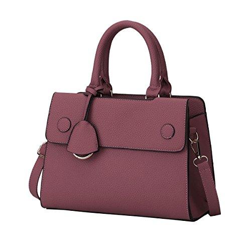 DISSA ES809 neuer Stil PU Leder Deman 2018 Mode Schultertaschen handtaschen Henkeltaschen,265×120×185(mm) Dunkelrot