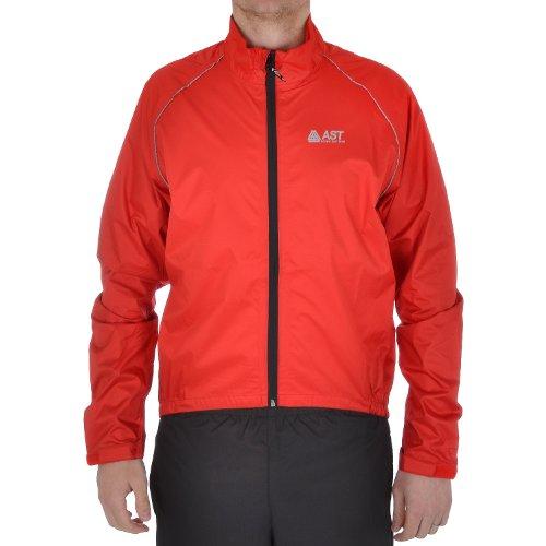 AST Astrolabio Mens ciclismo impermeabile giacca a maniche lunghe, Red, L
