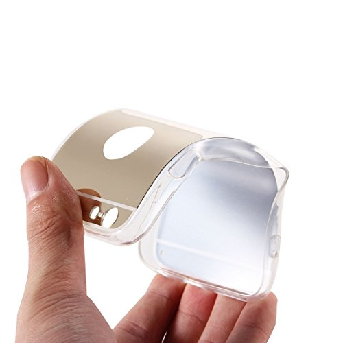 Phone case & Hülle Für iPhone 6 Plus / 6s Plus, Galvanisierungsspiegel TPU Schutzhülle ( Color : Silver ) Gold