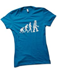 Robot Evolution Ladies T-Shirt Choice of 8 Colours in Sizes S to XL