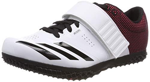 adidas Adizero Hj, Scarpe da Atletica Leggera Unisex Adulto, Bianco (Ftwr White/Core Black/Shock Red), 46 2/3 EU