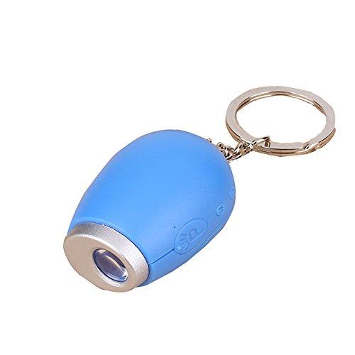Mini SchlüSselanhäNger LCD Projektionsuhr ,Digitale Uhren Toller SchöNer Vatertagsgeschenk SchlüSselanhäNger Mit Batterie Leicht Zu Tragen 3 Farben temperament fashion (Blau)