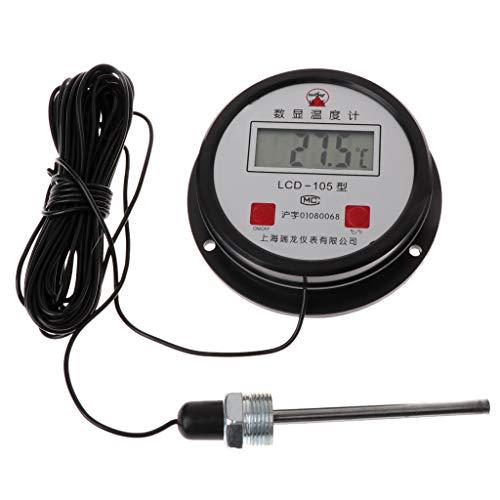 NysunshineHochtemperatur-Industrielle Wasserkessel Digitales Thermometer 10M Draht mit Sonde