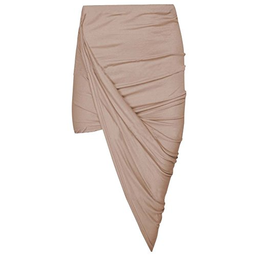 Zum Shop · Janisramone Women Cut Out Ruched Jersey Side Split Drape Long  Midi Mini Skirt Maxi 20da963bcf