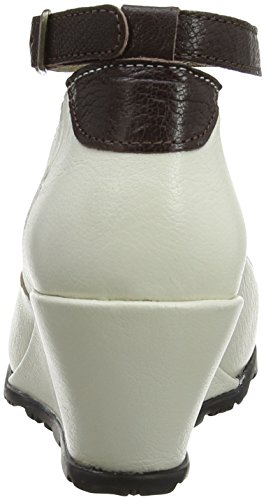 Fly London Lips, femme - Off White (Offwhite/Dk Brown)