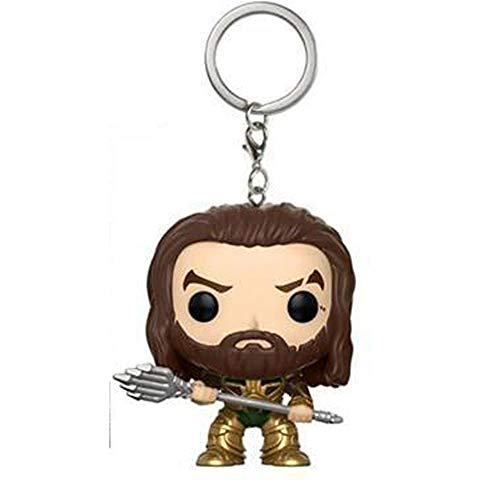 BENDER STARK Neue Funkos POPS Justice League Aquaman Poseidon Action Figure Collectible Model Toy Aquaman Keychain Toys Figure Gift for Kids