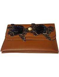 Ekkta Fashions Leatherette Women's Sling Bag (Handbag Sling Handwork, Brown)