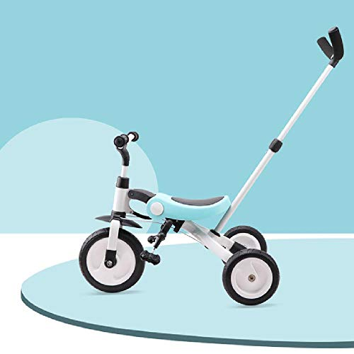 MIRACLE BLACK Ride On Toys Baby Tricycle Children Folding Bike Kids Scooter