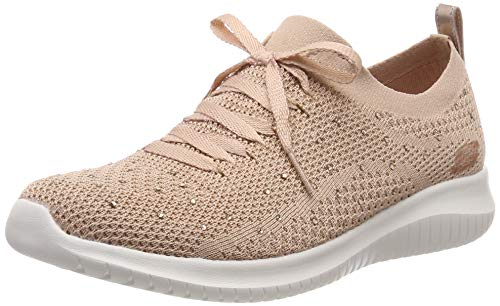 Skechers Damen Ultra Flex-Strolling Out Sneaker, Pink Gold Ros, 41 EU