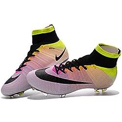 yurmery, scarpe da calcio per uomo Mercurial Superfly FG, Uomo, Rainbow, 43