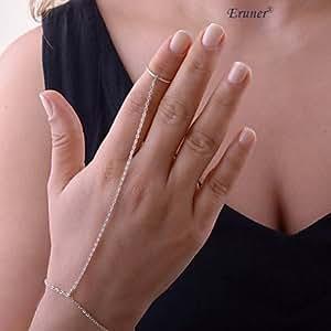 XINZH fashion femmes perles chaîne esclave charme main harnais doigt bracelet bague bracelet