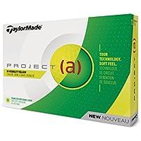 TaylorMade TM18 Proj(A) Yellow Stkr DZ Project (A) Golf Ball Yellow (Dozen)