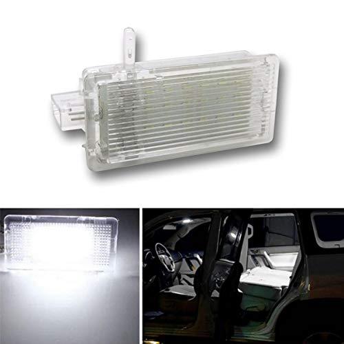 YUGUIYUN Auto Lumière de Coffre Éclairage de la Porte Éclairage intérieur 18 LED Xenon Blanc LED Lampe pour E46 E53 X5 E81 E82 E83 X1 E87 Facelift (1pcs)