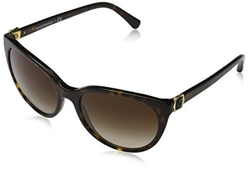 Emporio Armani Unisex EA4057 Sonnenbrille, Mehrfarbig (havana 502613), Large (Herstellergröße: 56)