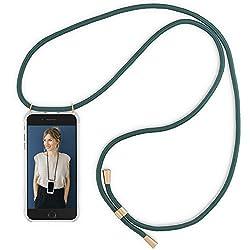 RebelCords Handykette kompatibel mit iPhone 7 / iPhone 8 - handyhülle mit Band - Handytasche zum umhängen - Farbe: Grüner Smaragd