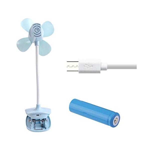 Carga-De-La-Batera-USB-Mini-Porttil-Cochecito-De-Beb-Cuna-Clip-Ventilador-Ventilador-De-EscritorioGreen1