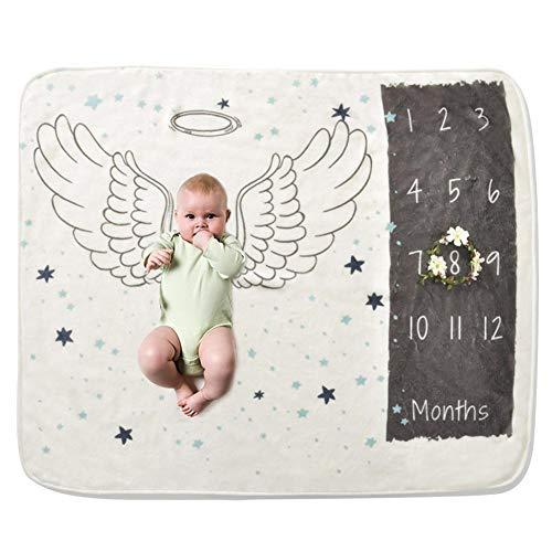 poetryer Baby Meilenstein Decke Fotohintergrund-Decke für Babyfotos, Neugeborenenfotografie Requisiten Decke, Foto Hintergrund Prop, Organische Weiche Baby Meilenstein Decke