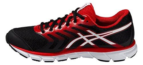 Asics, Scarpe da Trail Running uomo (Schwarz/Weiß/Rot)