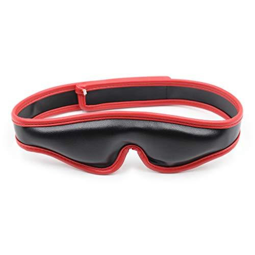 LRWTY Adult Appeal Leather Sponge Eyeshade Gesichtsmaske Shading Eyes Weibliche Ausrüstung Flirtzubehör Schwarz Rot Rosa Weiß Optional LW ( Color : Red )