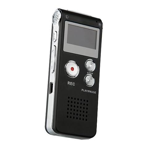 Enregistreur Audio Numerique - Enregistreur Numérique Vocal Voix Dictaphone 8 GB