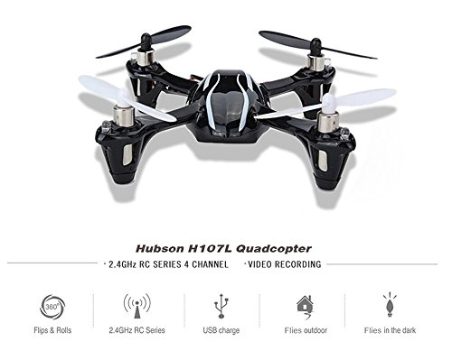 Hubsan H107L X4 Mini NEW Upgraded Quadcopter Helicopter RTF 4 LED Lights 2.4Ghz Radio System