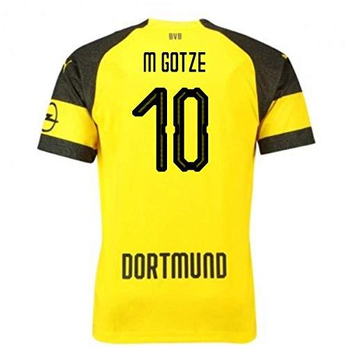 2018-2019 Borussia Dortmund Puma Home Football Soccer T-Shirt Camiseta (Mario Gotze 10) - Kids