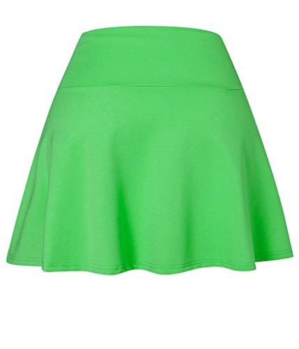 I VVEEL Damen Comfy Wide Taille Flared Flippy Rock Grün
