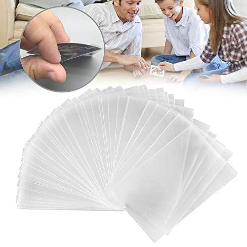 hinffinity Klare Kartenhüllen Poker Card Protector Magic Manga Karten Brettspiel Matte Sammelkarte Für Magic The Gathering MTG, Pokémon, Baseball Sammlung, Tarot Karten - 100 PCS