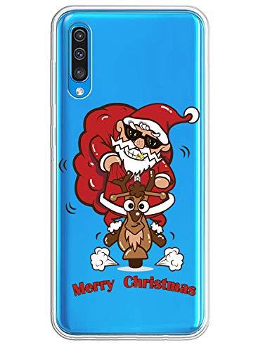 Fvntuey Fundas Compatible con Huawei Y6 2018 / Huawei Honor 7A Funda TPU Christmas...