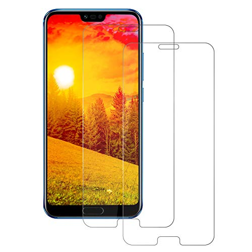 Gehärtetes Glas Honor 10 Bildschirmschutzfolie, [2 Stück] 9H Premium Frontglas-Schutzfolie, [Anti-Scratch] [Blasenfrei] [Case Friendly] [Ultra HD] [3D Touch] Einfache Installation Glasfolie für Honor 10