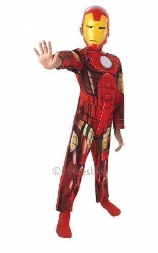Jungen offiziell lizenziert klassisch Iron Man Marvel Avengers Superheld Buch Tag Woche Verkleidung Kleid Kostüm Outfit - Rot, Rot, 3-4 Years (Iron Man-kleid)