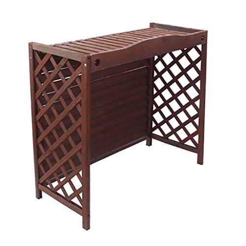 Scaffale in legno per condizionatore d'aria per esterni copertura decorativa per radiatore supporto per fiori per supporto per piante multiuso cortile balcone scaffale di stoccaggio per display bons