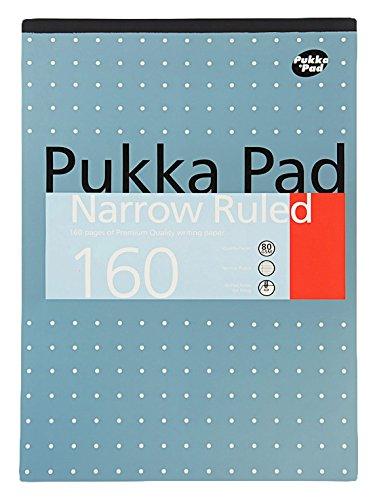 A4, metallic Refill schmal schwach und liniert 160Seiten 80GAM Premium Qualität Schreibpapier (Single)