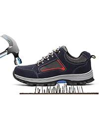Unisex Hombre Mujer Zapatillas de Seguridad con Puntera de Acero Antideslizante Transpirable S3 Zapatos de Trabajo Comodas Calzado de Trabajo Deportivos Botas de Protección Industria