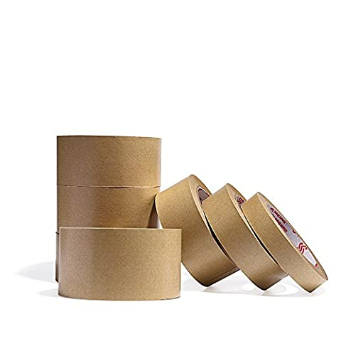 Zhi Jin 2Rolls Papier Klebeband Flatback selbstklebend Dickes Verpackung Malerkrepp fadensiegelung Tapes für Karton Box 32.8yd (30 Yd Masking Tape)