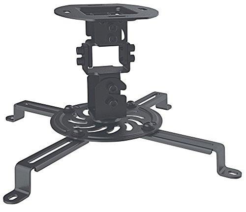 Manhattan 461184 Universal Deckenhalterung für Beamer und Projektoren ( Traglast bis zu 13,5 kg schwenkbar und rotierbar ) schwarz Premier Mounts Ceiling Mount