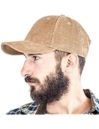 EXC-CO-1 - Excellent Cord Cap - Basecap Baseballcap Mütze Kappe für Damen und Herren beige braun navy schwarz