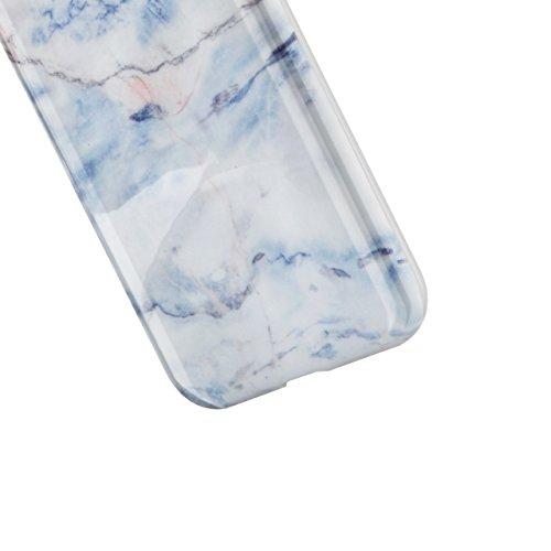 iPhone 7 Handytasche,iPhone 8 Marmor Handyhülle, Vandot Luxus Flexible Weich Marble Ultra Dünn Slim Schutz Handy Hülle für iPhone 7 8 Muster Malerei Kratzfeste Rutschfest Schutzhülle Shiny Glänzend Go Marmor Muster 1