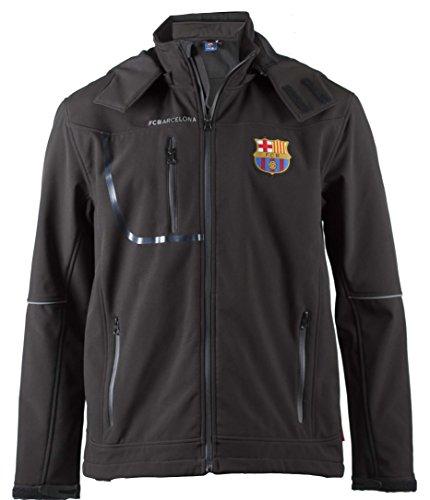 Softshelljacke Barça, offizielles Produkt des FC Barcelona, Erwachsenengröße, für Herren XL Schwarz - Mütze Barcelona Fc Offizielle Messi