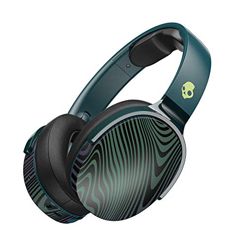 Skullcandy Hesh 3 Bluetooth Wireless Over-Ear Headphones with Microphone, Rapid Charge 22-Hour Battery, Foldable, Memory Foam Ear Cushions for Comfortable All-Day Fit, Psycho Tropical