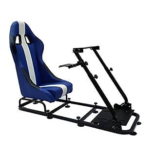 FK-Automotive Game Seat Spielsitz für PC und Spielekonsolen Kunstleder blau/weiß