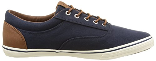 JACK & JONES Herren Jjvision Mixed Canvas Sneaker Low-Top Blau (Navy Blazer)