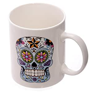 Day of the dead mug and manicure set with air freshener and nail file