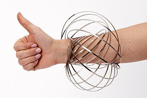 Original Flow Ring FLOWRINGZ Kinetisches Magisches Armband für Kinder und Erwachsene - Control The Flow - Armband Lächeln