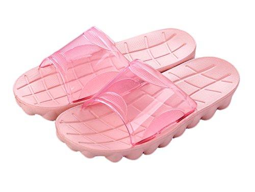 Auspicious beginning Adultes Douche anti-dérapante confortable Chaussons de plage Piscine Sandales D-rose