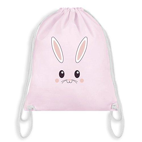 Anlässe Kinder - Süßes Hasen-Gesicht - Unisize - Pastell Rosa - WM110 - Turnbeutel & Gym Bag