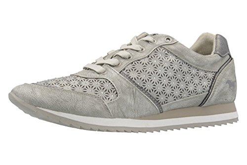 MUSTANG Shoes Sneaker in Übergrößen Silber 1237-301-21 große Damenschuhe, Größe:42