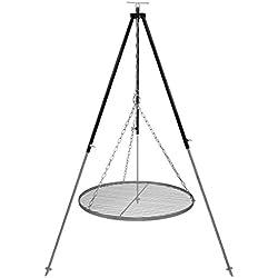 Schwenkgrill Dreibein 1,8 m Kettenhöhenverstellung mit Grillrost Edelstahl 60 cm