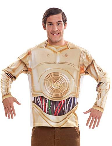viving Kostüme viving costumes231022C3PO Herren Lange Ärmel Shirt - C3po Kostüm Für Herren