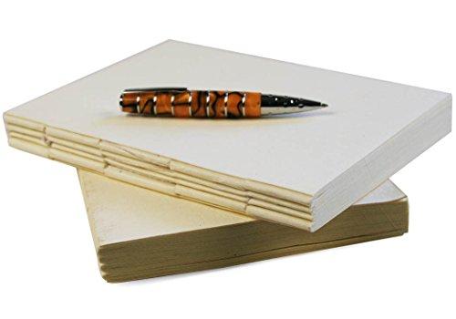 Khadda Notizbuch Nachfüllpack aus recycelter Baumwolle Creme Large (19cm x 14cm x 2cm) Notizbuch-refill-papier